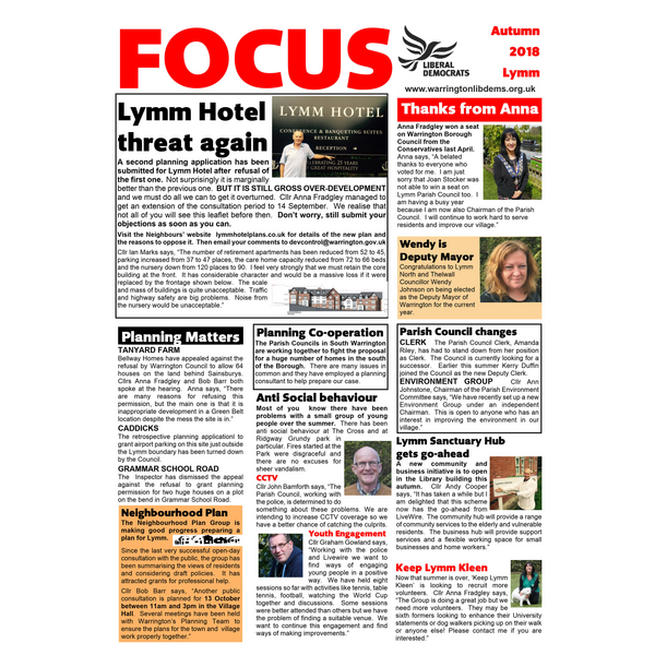 Lymm Sep 18 Page 1