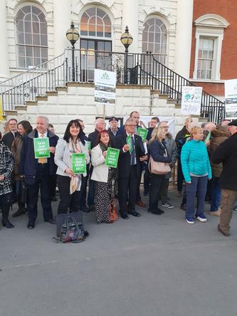Lib Dem Councillors at Local Plan Protest (Warrington Liberal Democrats)