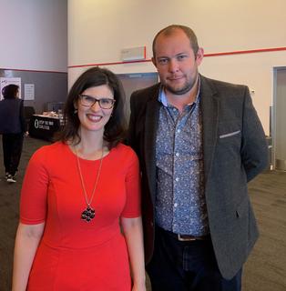 PPC Cllr Ryan Bate + Layla Moran MP (Warrington Liberal Democrats)