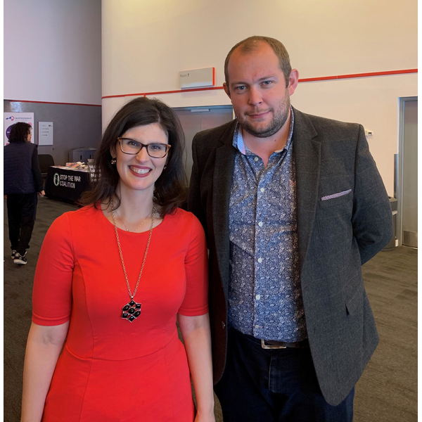 PPC Cllr Ryan Bate + Layla Moran MP (Warrington Liberal Democrats)