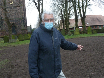Cllr Peter Walker on site at the Forge car park